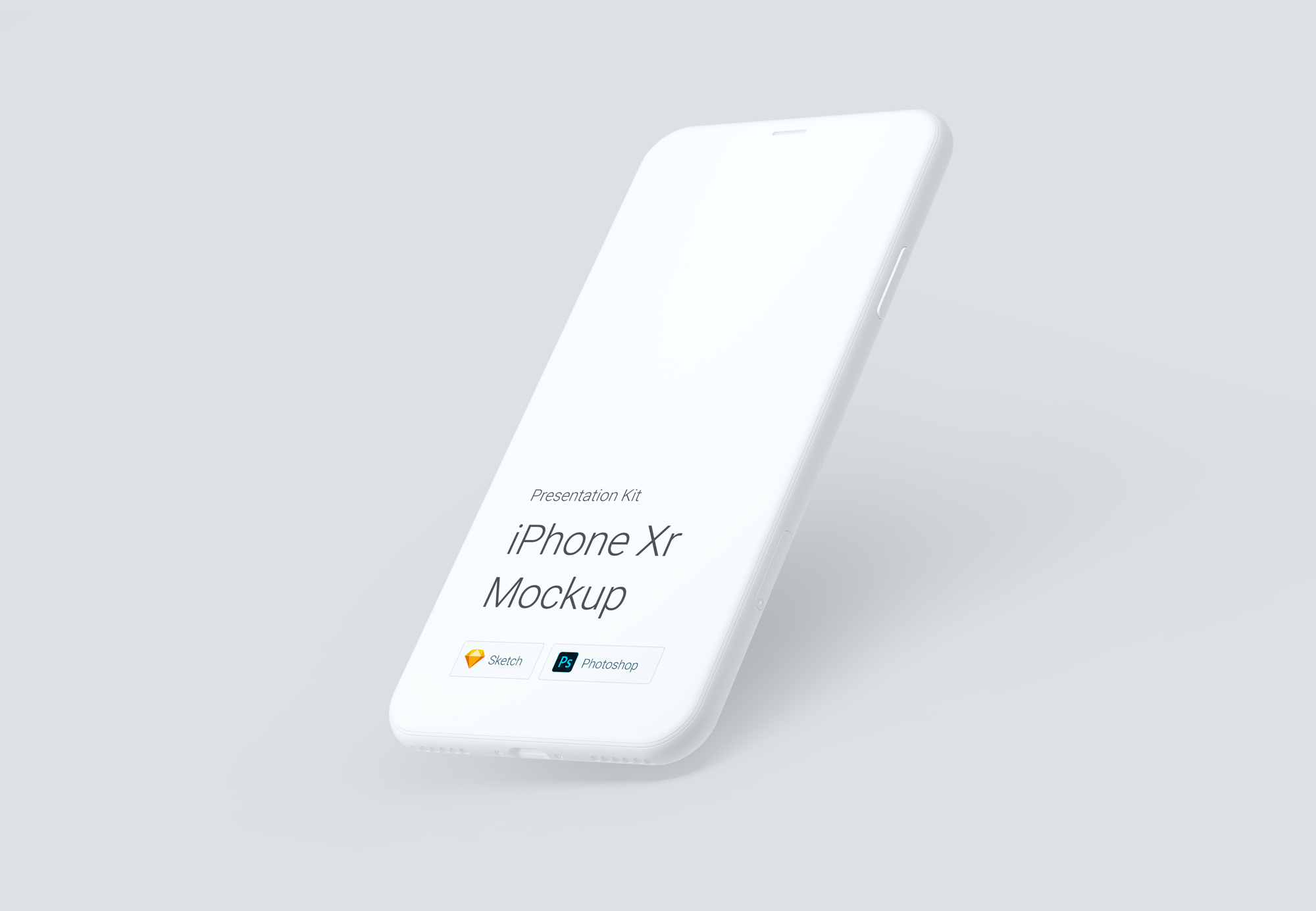 苹果iPhone Xr高清手机模板源文件psd+sketch